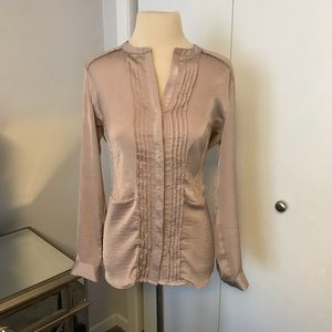 H&M tuxedo blouse